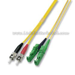 Duplex 9//125 Patchkabel E2000//APC-SC//APC Stecker LWL Glasfaser-Kabel 2m OS2 gelb Lichtwellenleiter 2 Meter
